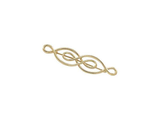 CleverSilver's 14K Yellow Gold Brooch 5 4. 0 0X3. 0 0 Mm
