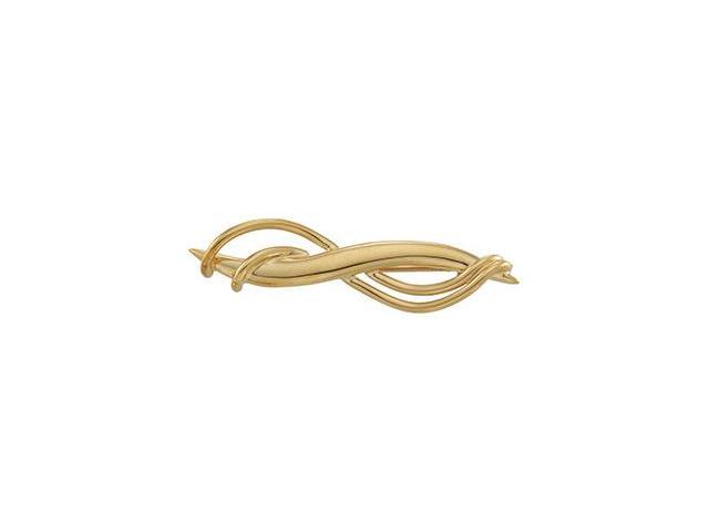 CleverSilver's 14K Yellow Gold Brooch 0 9. 0 0X 3 4. 0 0 Mm