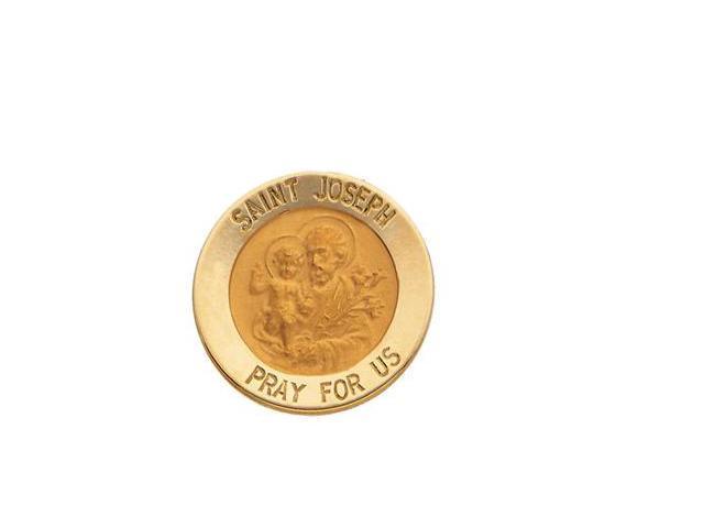 CleverSilver's 14K Yellow Gold St. Joseph Lapel Pin5. 0 0 Mm