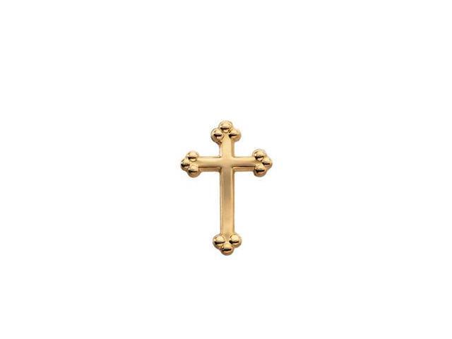 CleverSilver's 14K Yellow Gold Cross Lapel Pin14. 0 0X 0 9. 0 0 Mm