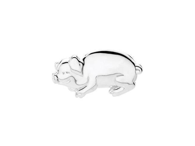 CleverSilver's Sterling Silver Bonnie The Pig Brooch7. 2 5X 2 9. 2 5 Mm