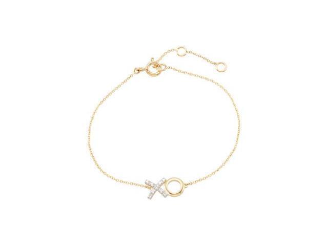 Clevereve's 14K Yellow Diamond Bracelet With Rhodium Plating
