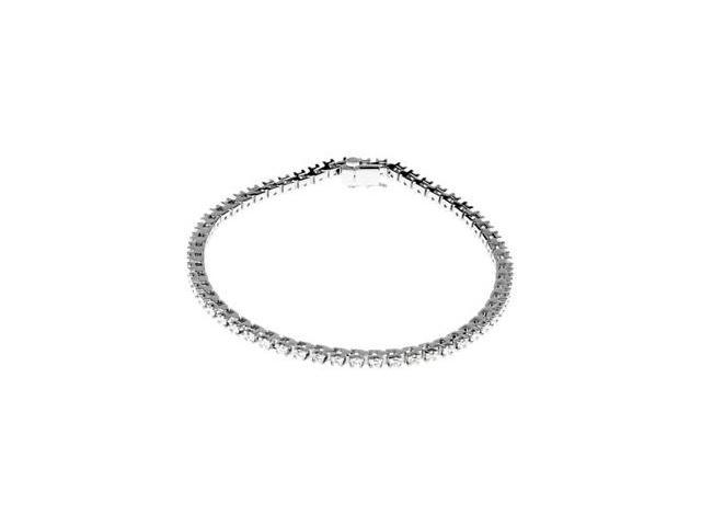 CleverSilver's 14K White Gold Diamond Tennis Bracelet 2 Ct Tw-