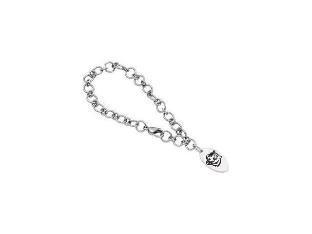 Clevereve's Stainless Steel Cincinnati Bengals Logo Dangle Bracelet