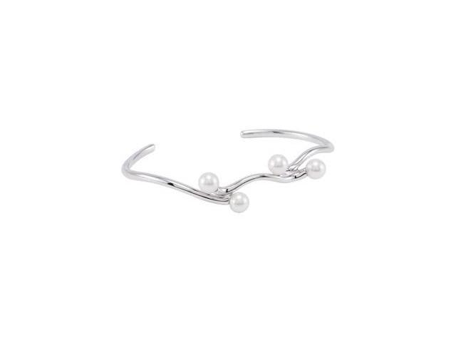 Clevereve's Sterling Silver Freshwater Cultured Pearl Cuff Bracelet
