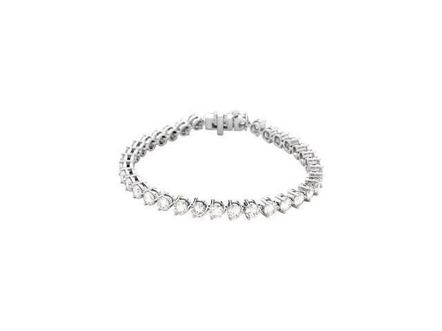 CleverSilver's 18K White Gold Diamond Tennis Bracelet 12 Ct Tw/07.25 Inch-