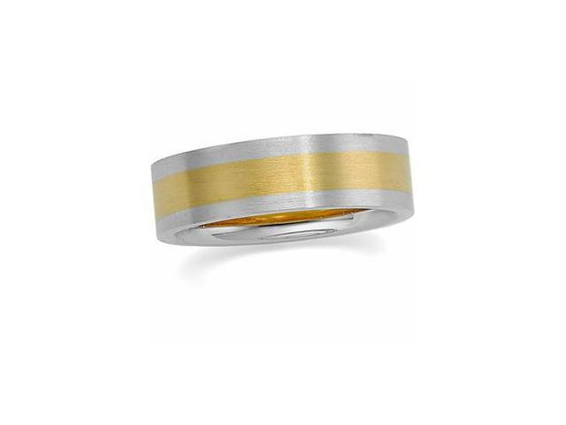 14K Yellow Gold/White Gold Two Tone Design Band Size 7.5