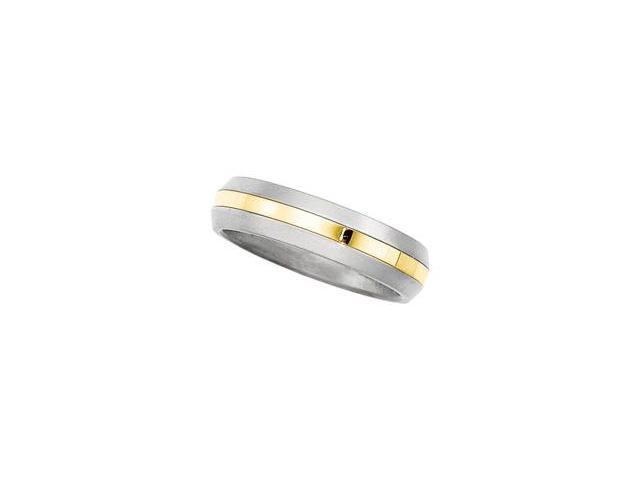 Titanium Design Band Titanium/18K Yellow Gold Size 5