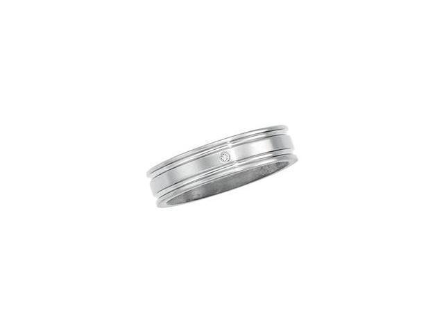 Titanium Band W/Diamond Size 12.5