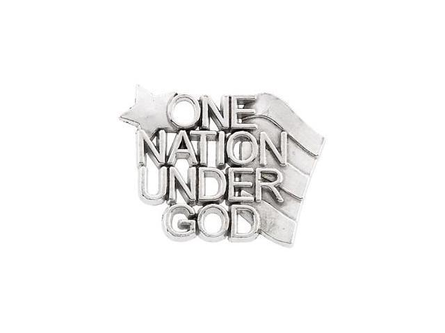 CleverSilver's 10K Yellow Gold One Nation Under God Lapel Pin14. 0 0X9. 0 0 Mm