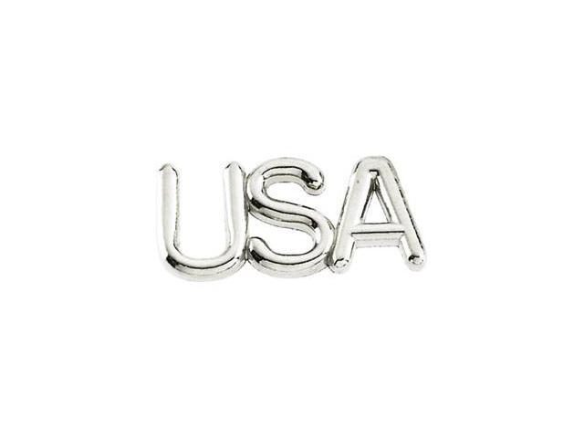 CleverSilver's 14K White Gold Usa Lapel Pin 0 6. 7 5X5. 2 5 Mm