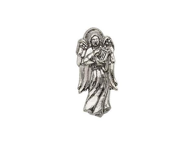 CleverSilver's 14K White Gold Angel W/Harp Lapel Pin9. 0 0X 0 9. 0 0 Mm