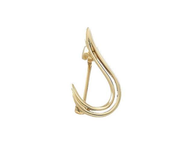 CleverSilver's 14K Yellow Gold Brooch5. 0 0X 0 9. 0 0 Mm