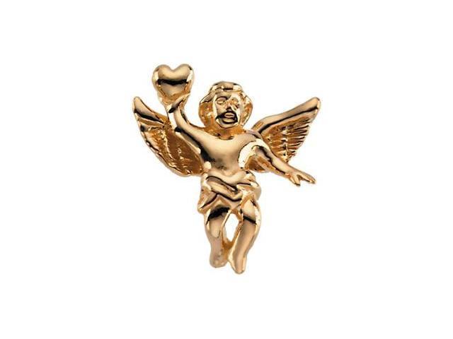 CleverSilver's 14K Yellow Gold Angel Lapel Pin7. 0 0X5. 5 0 Mm