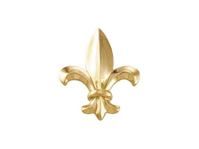 CleverSilver's 14K Yellow Gold Fleur De Lis Brooch 3 3. 0 0X 2 6. 0 0 Mm