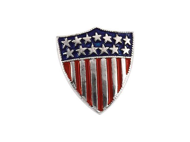 14K Yellow Gold America Shield Of Honor Lapel Pin2. 5 0X1. 5 0 Mm