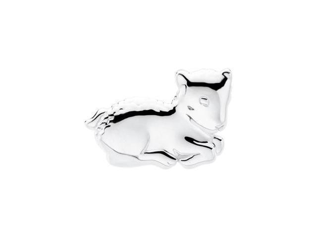 CleverSilver's Sterling Silver The Beloved Lamb Brooch7. 5 0X 2 6. 7 5 Mm
