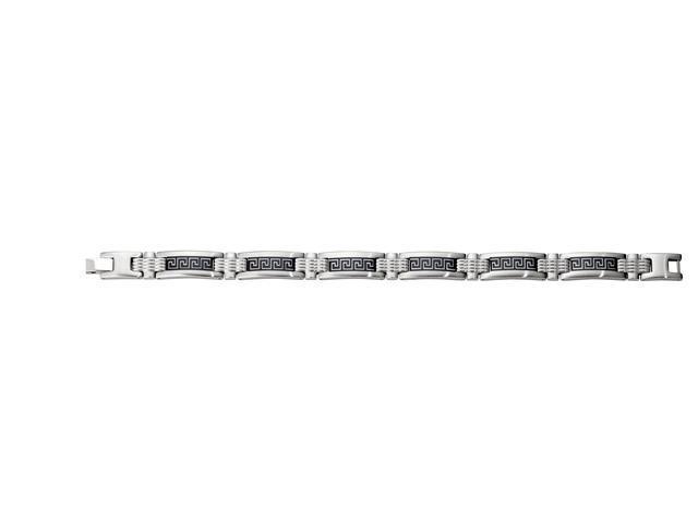 CleverSilvers Cross Bracelet Greek Key