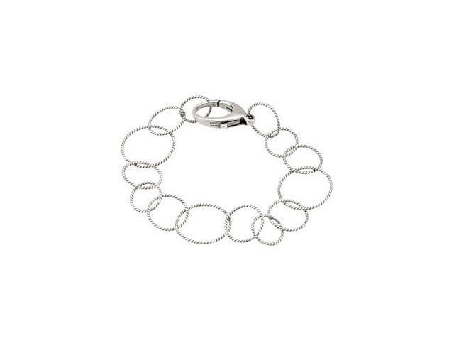 Clevereve's Sterling Silver Oxidized Sterling Silver Link Bracelet