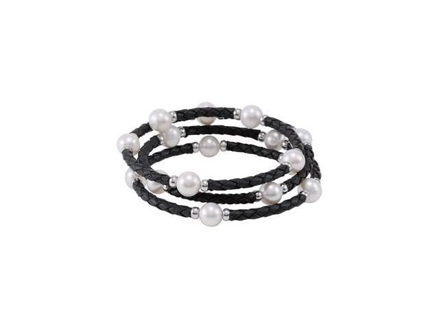 Clevereve's Sterling Silver Freshwater Cultured Pearl Wrap Bracelet