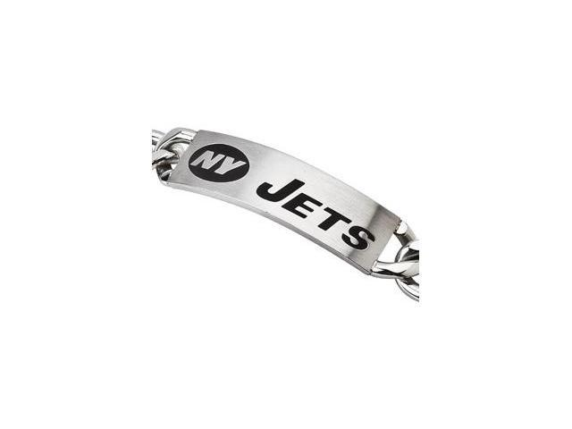 Clevereve's Stainless Steel New York Jets Team Name And Logo Id Bracelet