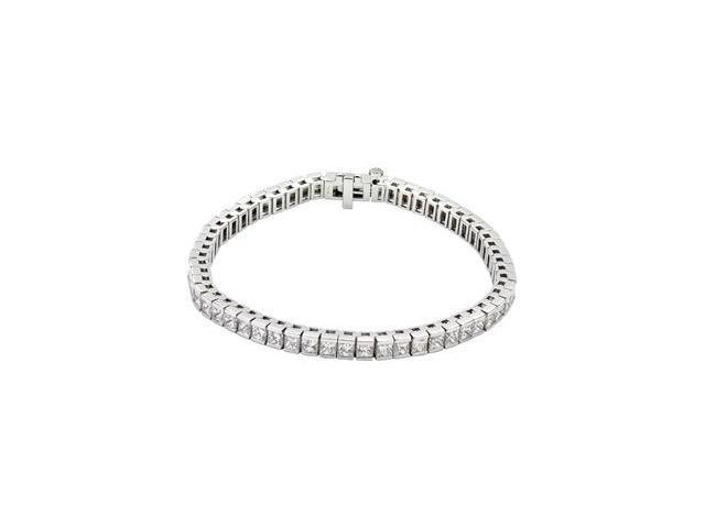 CleverSilver's 18K White Gold Diamond Tennis Bracelet 9 Ct Tw 7 1/4 Inch-