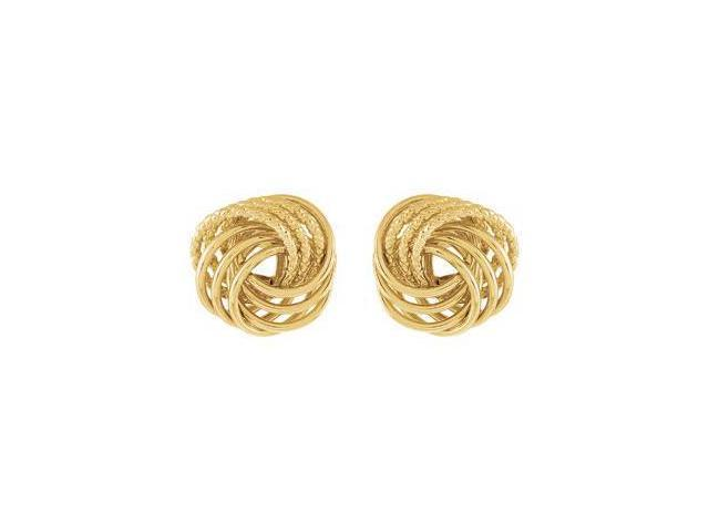 14Ky Gold Clad Sterling Silver Knot Earring With Backs 14Kycladster Pair