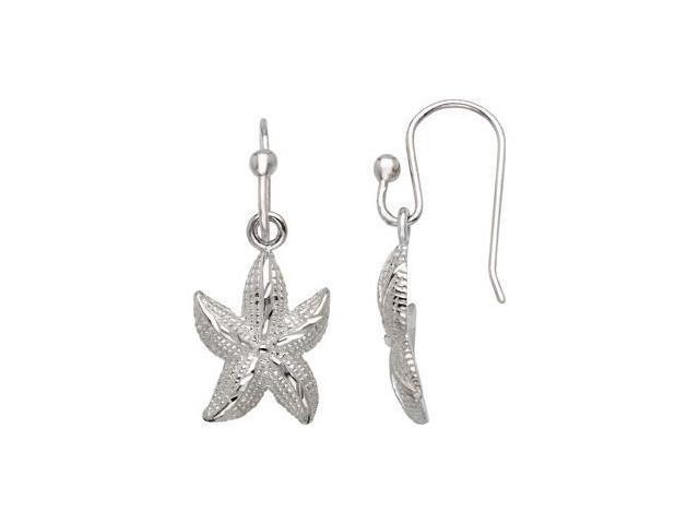 Starfish Earrings Sterling Silver Pair 19.04X12.14 mm
