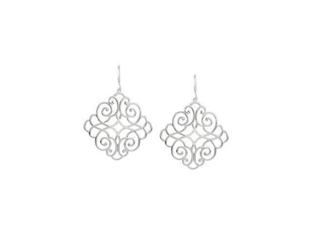 Diamond Earrings Sterling Silver Pair 1/5 Ct Tw