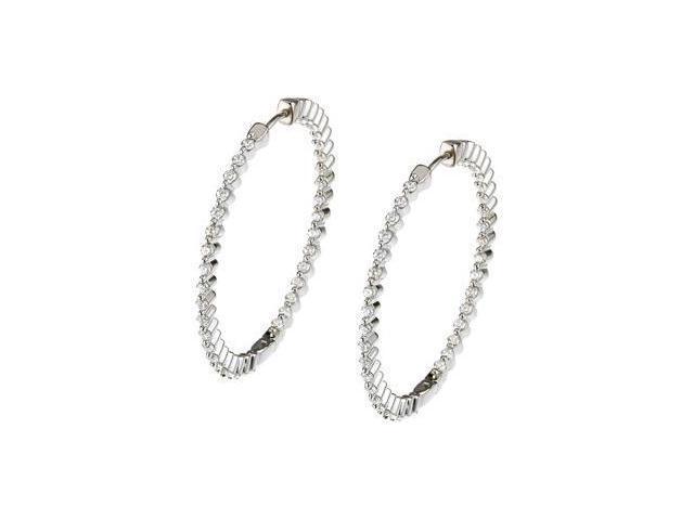 Fashion Earrings Sterling Silver Pair 38.00 mm