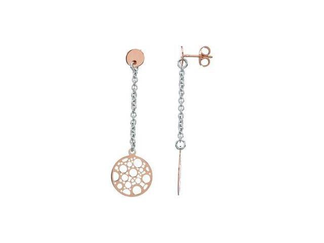 Rose Gold Plated Sterling Silver Fashion Earrings W/Backs Sterling Silver