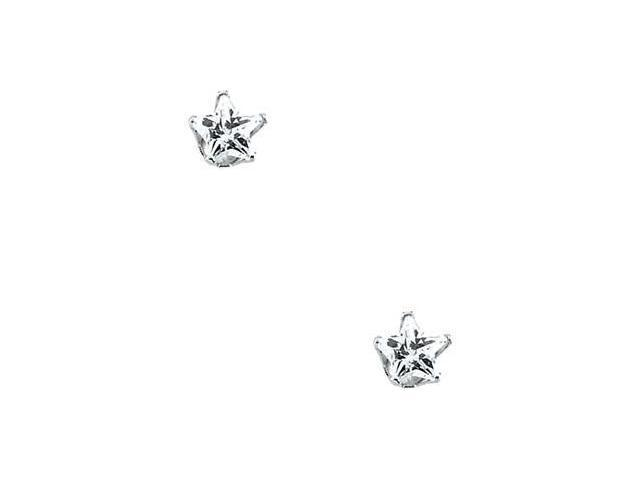 Childrens Star Cubic Zirconia Earring