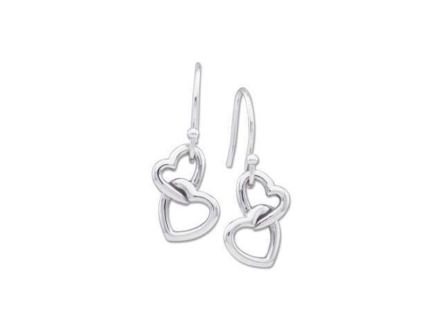 Metal Hook Heart Earrings