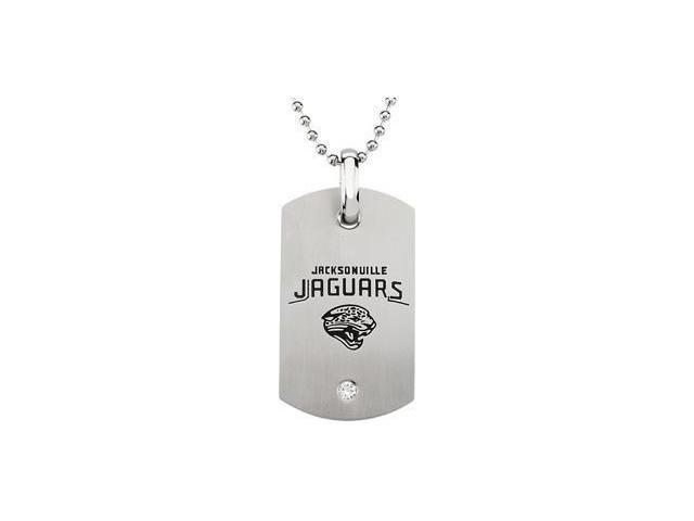 Stainless Steeljacksonville Jaguars Logo Dog Tag W/Chain 45.50mm X 26.00mm