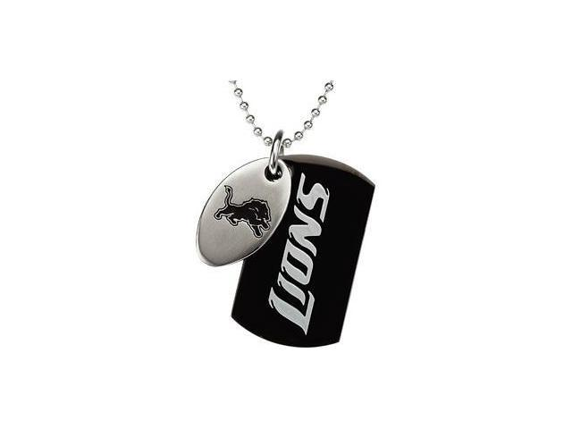 Stainless Steeldetroit Lions Team Name & Logo Double Dog Tag W/Chain 45.00mm