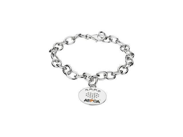 CleverEve's Heart U Back Cz Pawtag Chain Bracelet Sterling Silver 19.49X18.89 mm