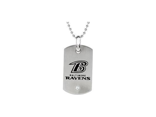 Stainless Steelbaltimore Ravens Logo Dog Tag W/Chain 45.50mm X 26.00mm