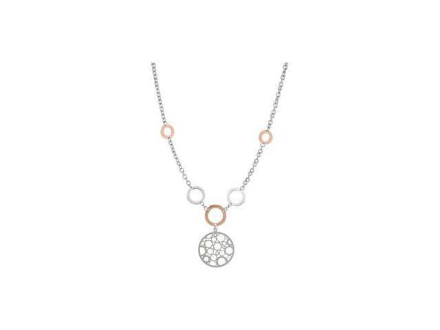 Rose Gold Plated Sterling Silver Fashion Necklace Sterling Silver 18.00 Inch