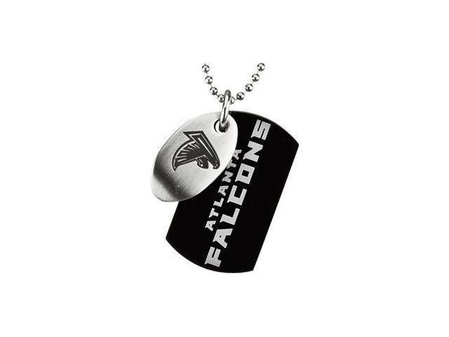 Stainless Steelatlanta Falcons Team Name & Logo Double Dog Tag W/Chain 45.00mm