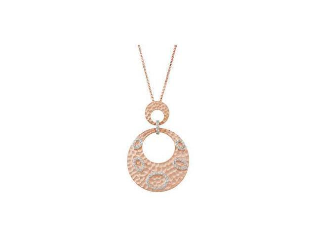 Sterling Silvercubic Zirconia Necklace With 2