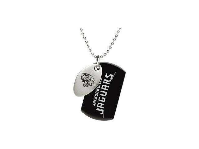 Stainless Steeljacksonville Jaguars Team Name & Logo Double Dog Tag W/Chain