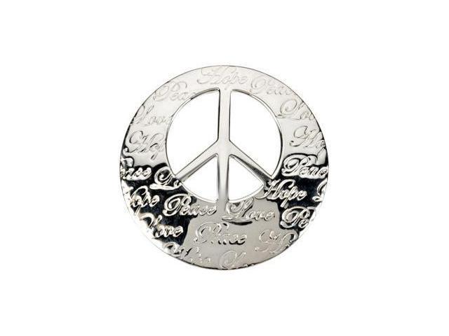 CleverEve's Hope,Life,Peace,Love Engraved Pendant Sterling Silver 30.25X29.75 mm