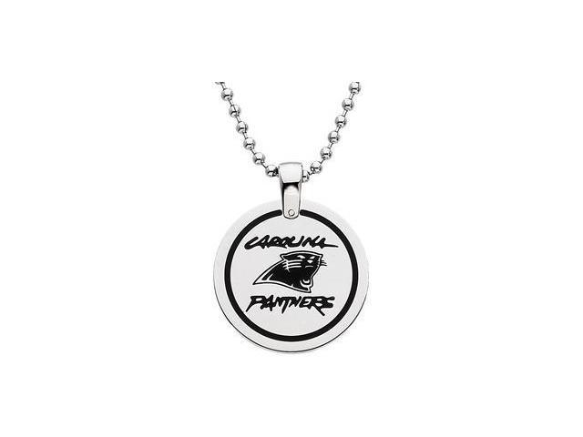 Stainless Steelcarolina Panthers Team Name & Logo Disc W/Chain 28.00mm