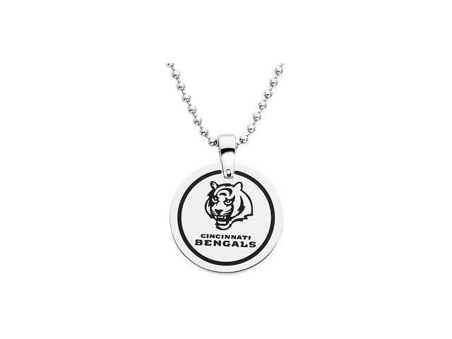 Stainless Steelcincinnati Bengals Team Name & Logo Disc W/Chain 28.00mm