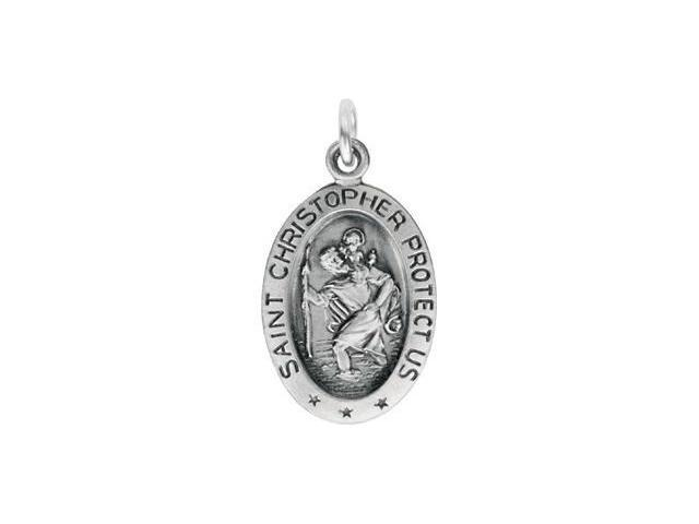 St. Christopher Medal W/Out Chain Sterling Silver 17.00X11.00 mm Medal Only