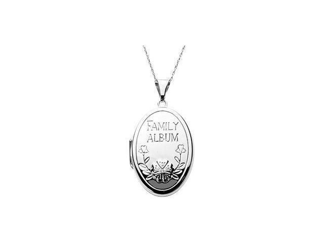 CleverEve's Oval Family Locket With Diamond Sterling Silver 34.85X22.85