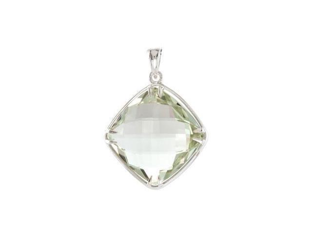 CleverEve's Sterling Silvergenuine Smoky Quartz Pendant 20.00X20.00 mm