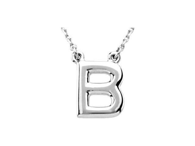 CleverEve's Silver Fashion Initial Necklace Sterling Silver B 16
