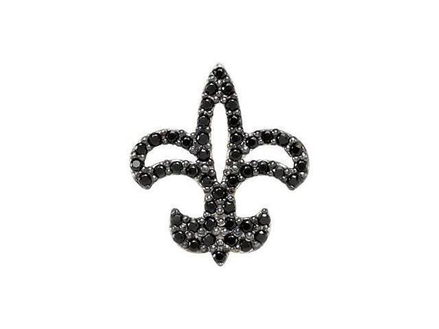 CleverEve's Genuine Black Spinel Pendant Sterling Silver Pendant