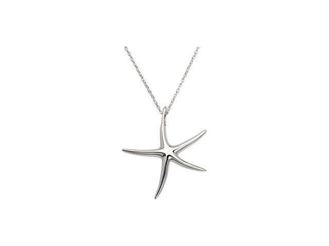 CleverEve's Starfish Pendant Sterling Silver 37.49X34.18 mm